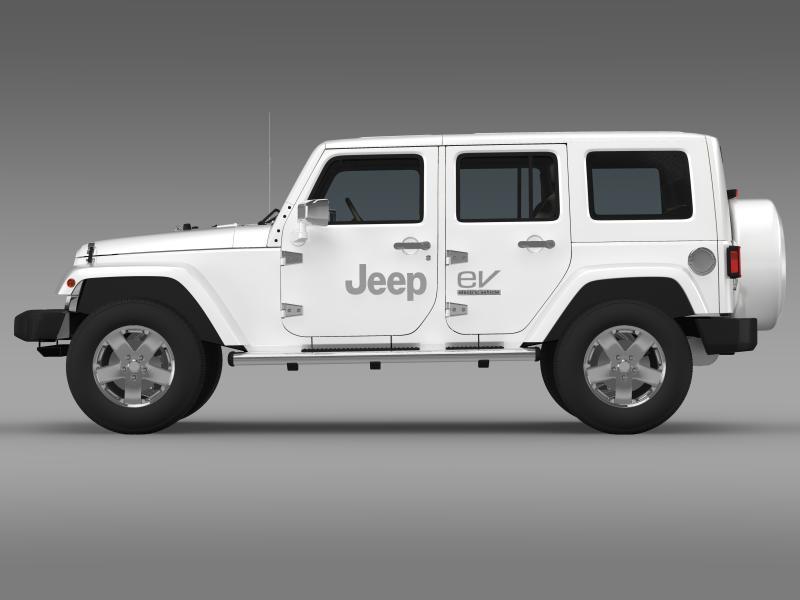 jeep wrangler electric vehicle concept 3d model 3ds max fbx c4d lwo ma mb hrc xsi obj 160158