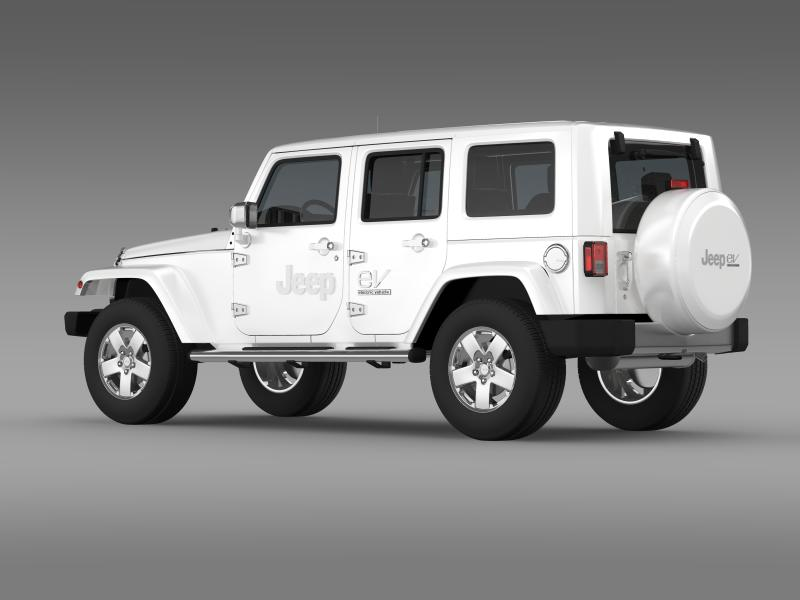 jeep wrangler electric vehicle concept 3d model 3ds max fbx c4d lwo ma mb hrc xsi obj 160159