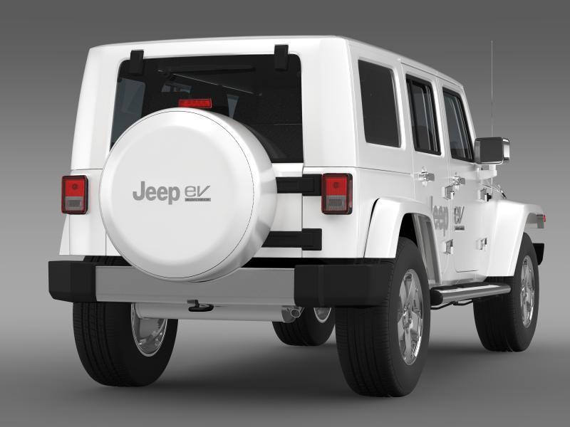jeep wrangler electric vehicle concept 3d model 3ds max fbx c4d lwo ma mb hrc xsi obj 160161
