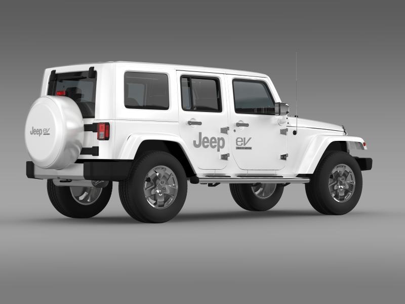 jeep wrangler electric vehicle concept 3d model 3ds max fbx c4d lwo ma mb hrc xsi obj 160163