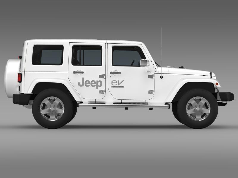 jeep wrangler electric vehicle concept 3d model 3ds max fbx c4d lwo ma mb hrc xsi obj 160164