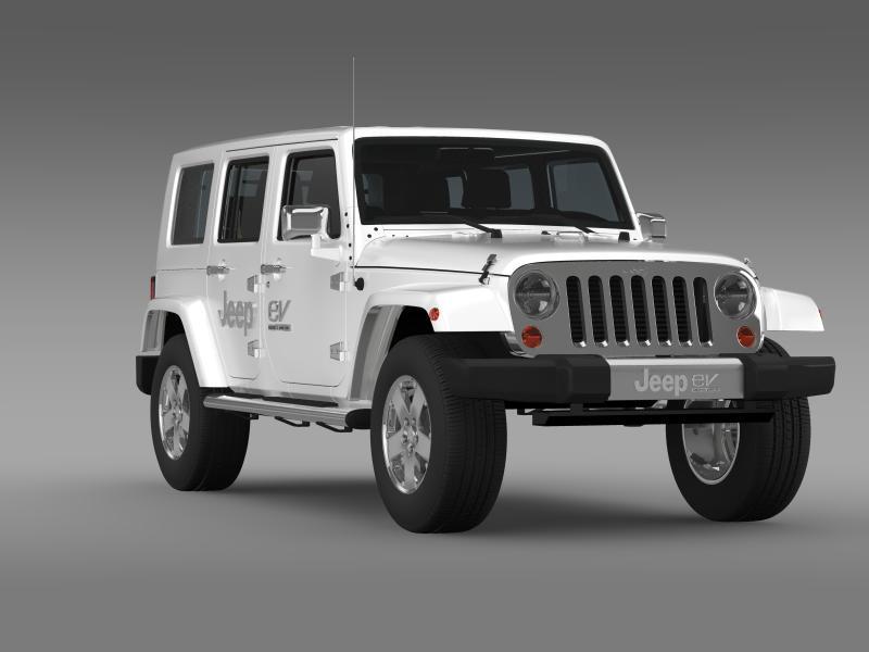 jeep wrangler electric vehicle concept 3d model 3ds max fbx c4d lwo ma mb hrc xsi obj 160166