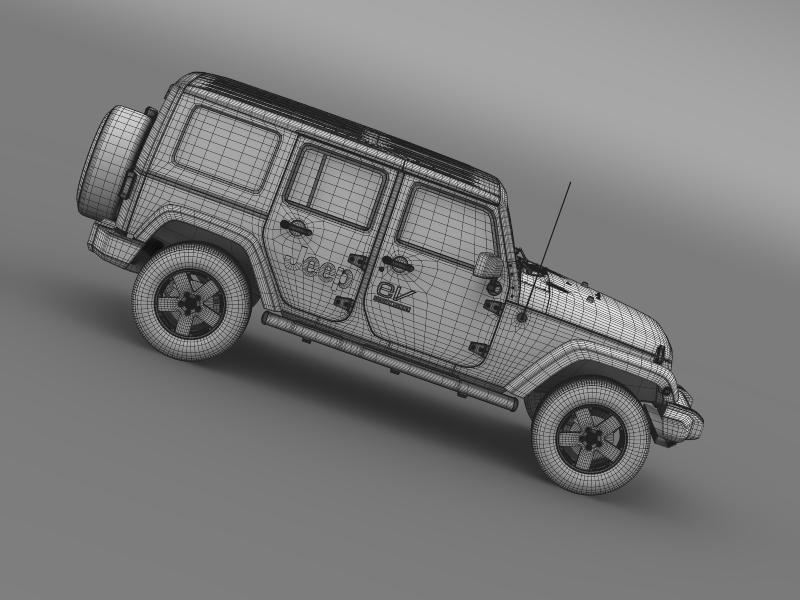 jeep wrangler electric vehicle concept 3d model 3ds max fbx c4d lwo ma mb hrc xsi obj 160172