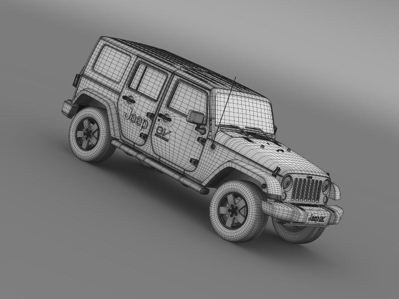 jeep wrangler electric vehicle concept 3d model 3ds max fbx c4d lwo ma mb hrc xsi obj 160173
