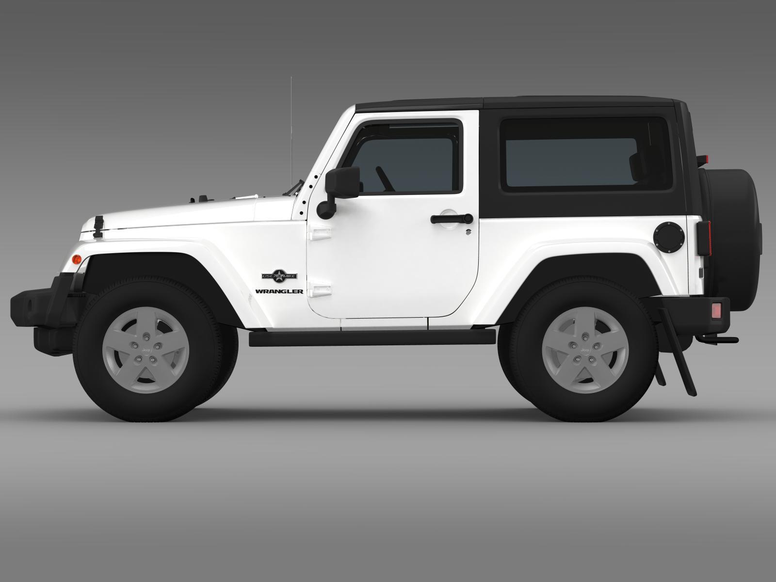 jeep wrangler freedom 2014 3d model 3ds max fbx c4d lwo ma mb hrc xsi obj 162462