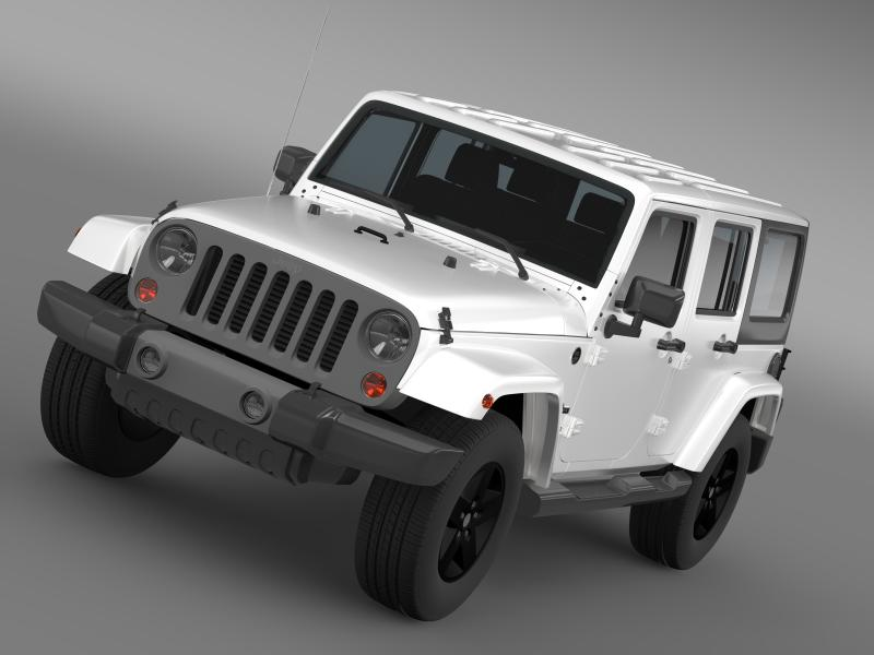 jeep wrangler freedom edition 3d model 3ds fbx c4d lwo ma mb hrc xsi obj 160473