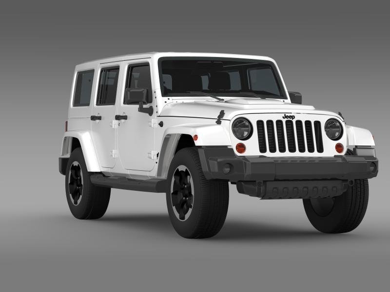 jeep wrangler polar 2014 3d model 3ds max fbx c4d lwo ma mb hrc xsi obj 160334