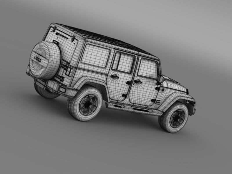 jeep wrangler polar 2014 3d model 3ds max fbx c4d lwo ma mb hrc xsi obj 160339