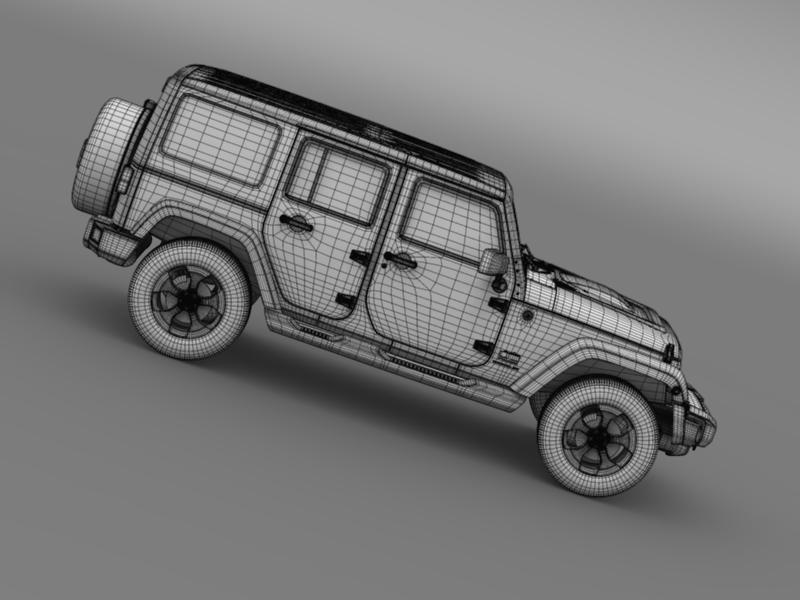 jeep wrangler polar 2014 3d model 3ds max fbx c4d lwo ma mb hrc xsi obj 160340