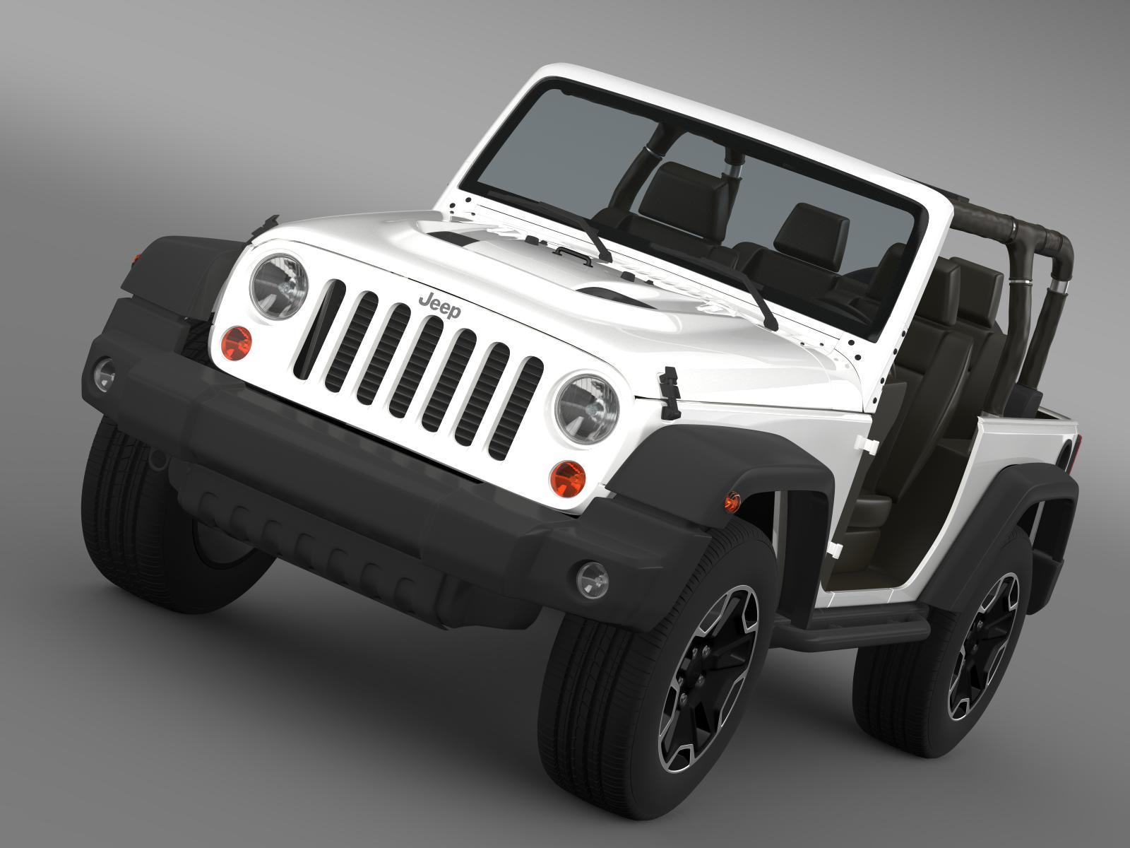 jeep wrangler rubicon 10th anniversary 2014 3d model 3ds max fbx c4d lwo ma mb hrc xsi obj 164827