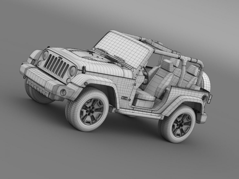 jeep wrangler rubicon 10th évforduló 2014 3d modell 3ds max fbx c4 lwo ma mb hrc xsi obj 164843