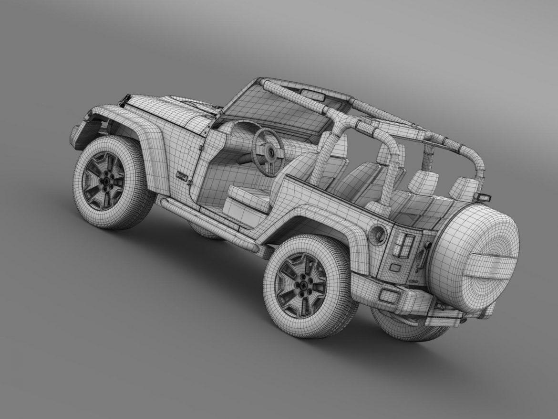 jeep wrangler rubicon 10th évforduló 2014 3d modell 3ds max fbx c4 lwo ma mb hrc xsi obj 164845
