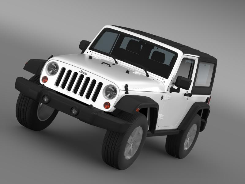jeep wrangler rubicon 2007 3d model 3ds max fbx c4d lwo ma mb hrc xsi obj 160174