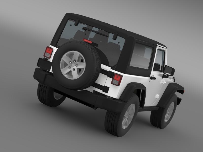 jeep wrangler rubicon 2007 3d model 3ds max fbx c4d lwo ma mb hrc xsi obj 160175