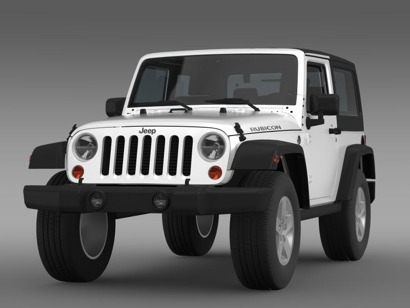 jeep wrangler rubicon 2007 3d model 3ds max fbx c4d lwo ma mb hrc xsi obj 160176