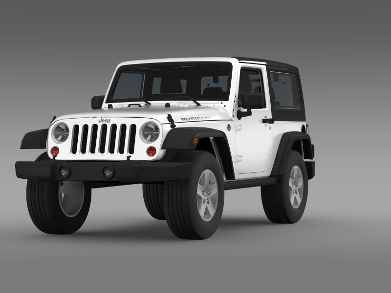 jeep wrangler rubicon 2007 3d model 3ds max fbx c4d lwo ma mb hrc xsi obj 160177