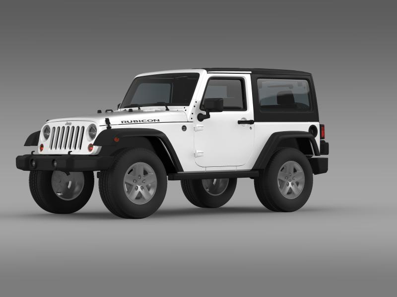 jeep wrangler rubicon 2007 3d model 3ds max fbx c4d lwo ma mb hrc xsi obj 160178