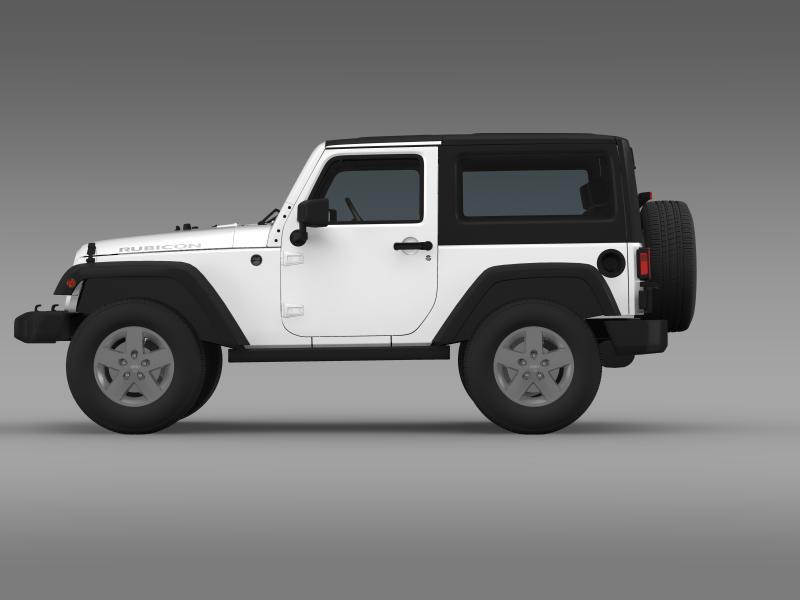 jeep wrangler rubicon 2007 3d model 3ds max fbx c4d lwo ma mb hrc xsi obj 160179