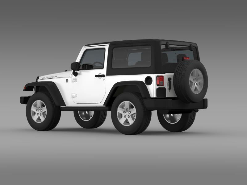 jeep wrangler rubicon 2007 3d model 3ds max fbx c4d lwo ma mb hrc xsi obj 160180