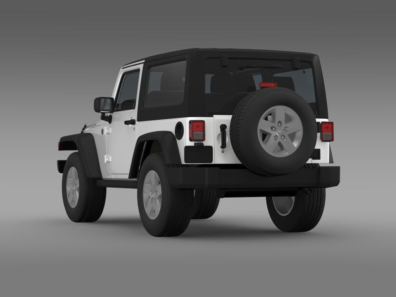 jeep wrangler rubicon 2007 3d model 3ds max fbx c4d lwo ma mb hrc xsi obj 160181