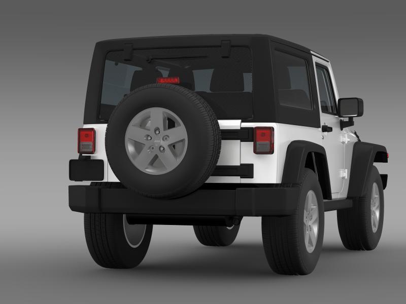jeep wrangler rubicon 2007 3d model 3ds max fbx c4d lwo ma mb hrc xsi obj 160182