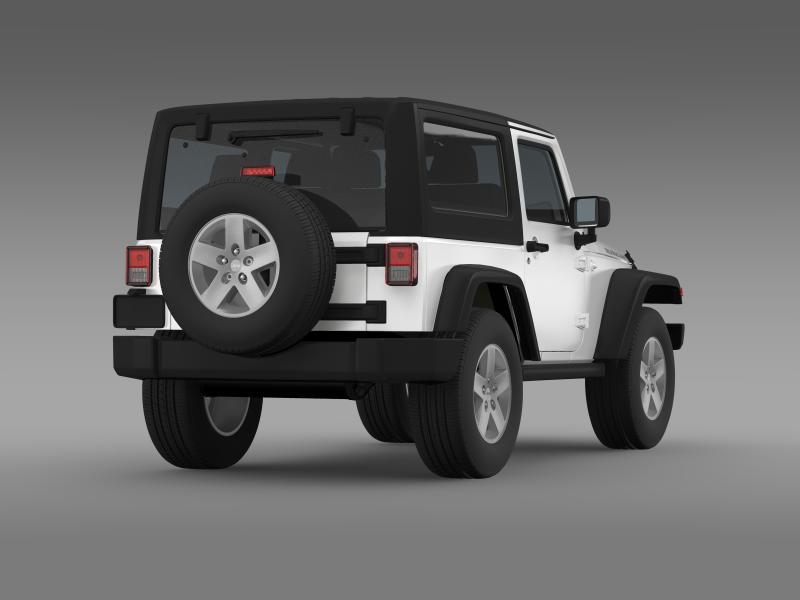 jeep wrangler rubicon 2007 3d model 3ds max fbx c4d lwo ma mb hrc xsi obj 160183