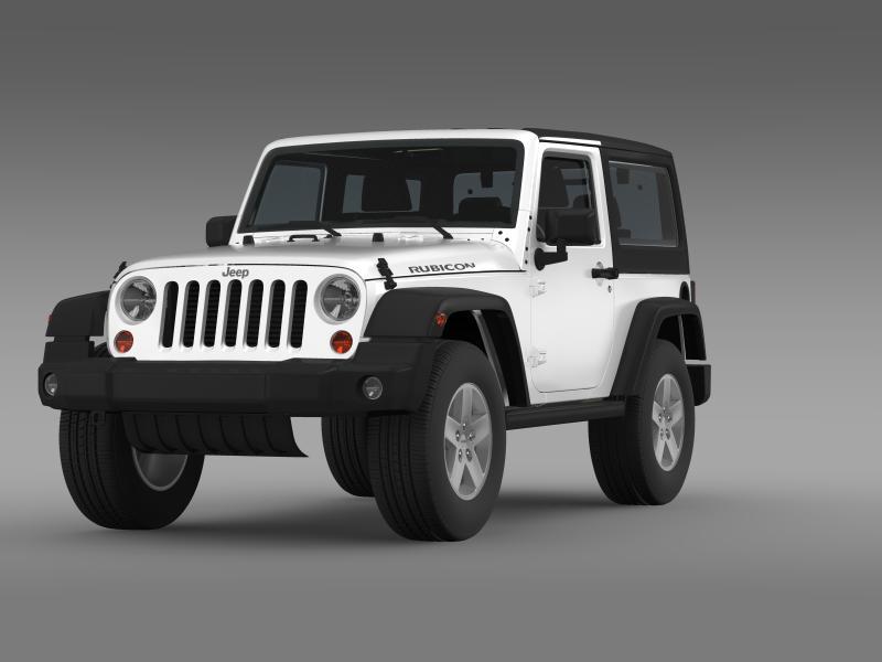jeep wrangler rubicon 2012 3d model 3ds max fbx c4d lwo ma mb hrc xsi obj 160187