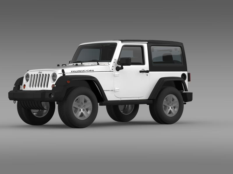 jeep wrangler rubicon 2012 3d model 3ds max fbx c4d lwo ma mb hrc xsi obj 160188