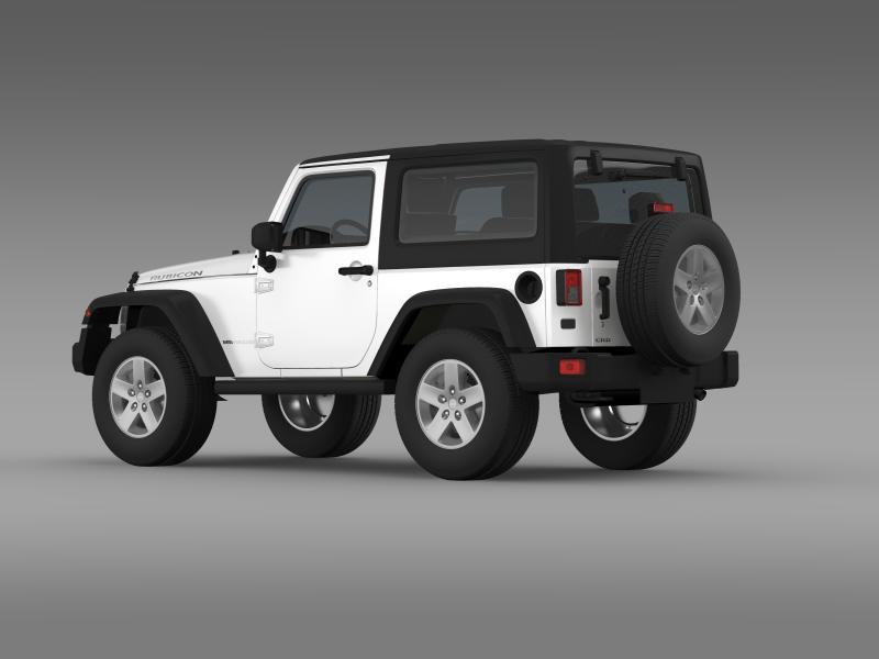 jeep wrangler rubicon 2012 3d model 3ds max fbx c4d lwo ma mb hrc xsi obj 160190