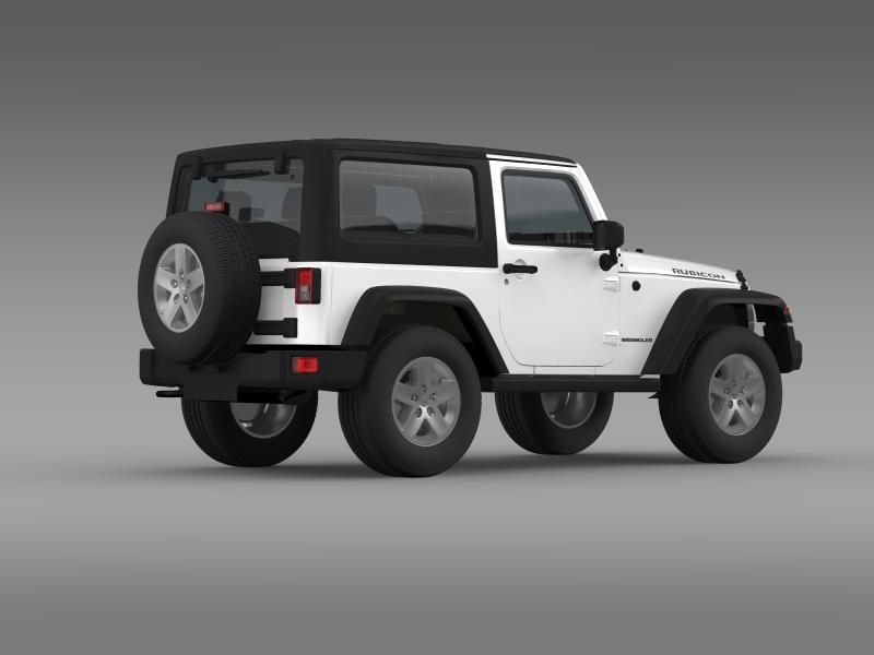 jeep wrangler rubicon 2012 3d model 3ds max fbx c4d lwo ma mb hrc xsi obj 160194