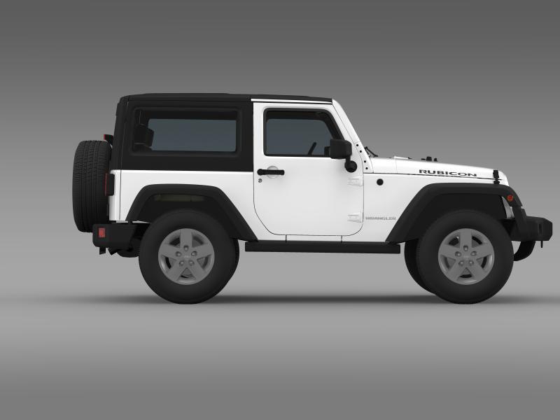 jeep wrangler rubicon 2012 3d model 3ds max fbx c4d lwo ma mb hrc xsi obj 160195