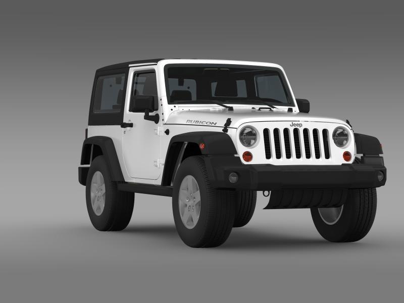 jeep wrangler rubicon 2012 3d model 3ds max fbx c4d lwo ma mb hrc xsi obj 160197