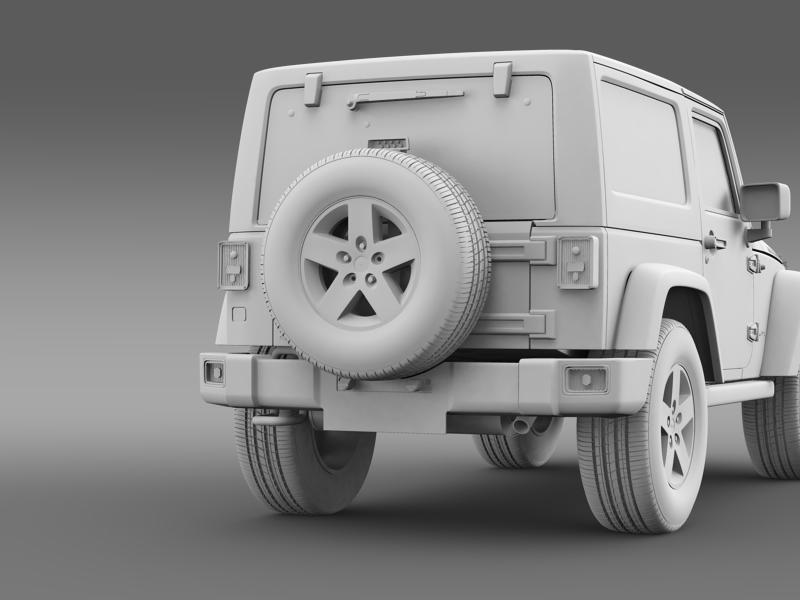 jeep wrangler rubicon 2012 3d model 3ds max fbx c4d lwo ma mb hrc xsi obj 160200