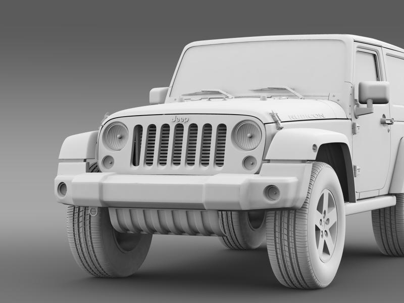 jeep wrangler rubicon 2012 3d model 3ds max fbx c4d lwo ma mb hrc xsi obj 160201