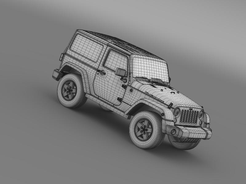 jeep wrangler rubicon 2012 3d model 3ds max fbx c4d lwo ma mb hrc xsi obj 160204