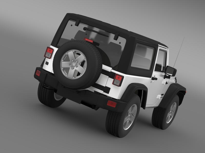 jeep wrangler uk sport 2008 3d model 3ds max fbx c4d lwo ma mb hrc xsi obj 160206