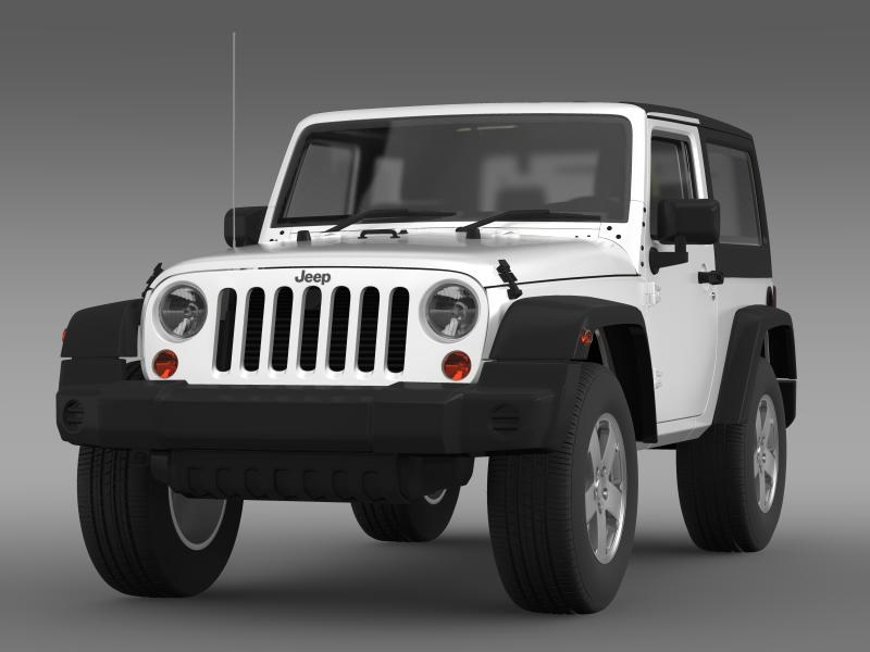 jeep wrangler uk sport 2008 3d model 3ds max fbx c4d lwo ma mb hrc xsi obj 160207