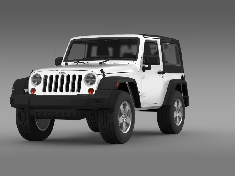 jeep wrangler uk sport 2008 3d model 3ds max fbx c4d lwo ma mb hrc xsi obj 160208