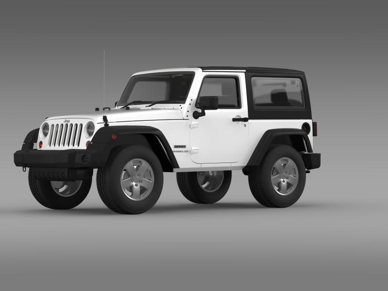 jeep wrangler uk sport 2008 3d model 3ds max fbx c4d lwo ma mb hrc xsi obj 160209