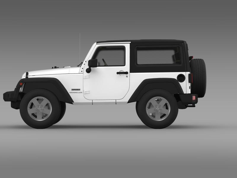 jeep wrangler uk sport 2008 3d model 3ds max fbx c4d lwo ma mb hrc xsi obj 160210
