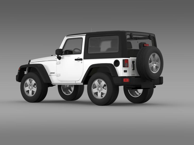 jeep wrangler uk sport 2008 3d model 3ds max fbx c4d lwo ma mb hrc xsi obj 160211