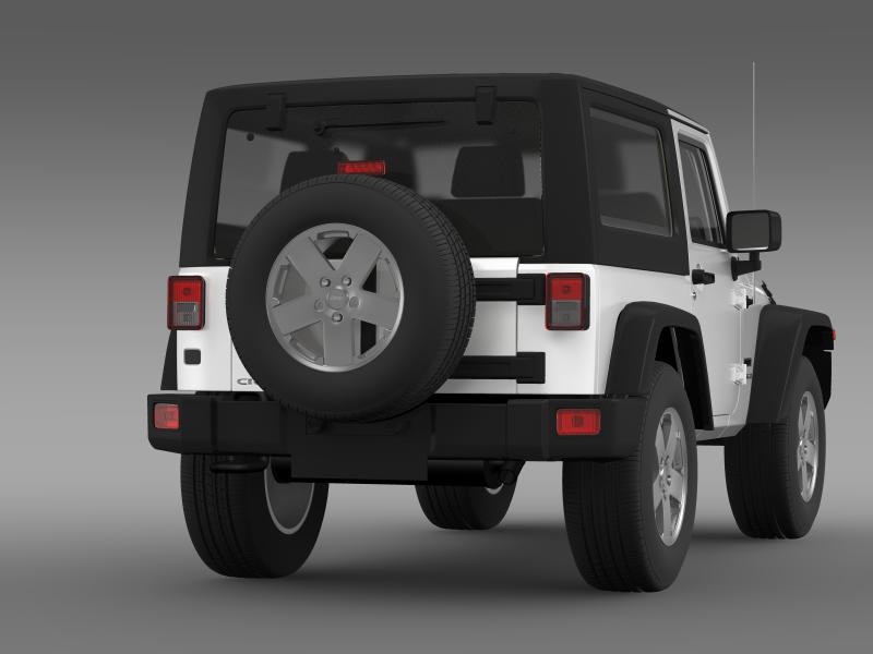 jeep wrangler uk sport 2008 3d model 3ds max fbx c4d lwo ma mb hrc xsi obj 160213