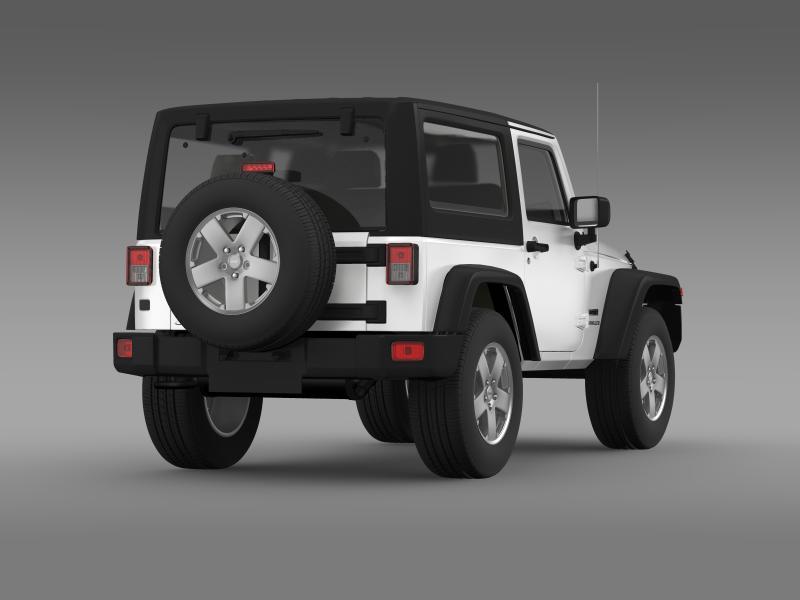 jeep wrangler uk sport 2008 3d model 3ds max fbx c4d lwo ma mb hrc xsi obj 160214
