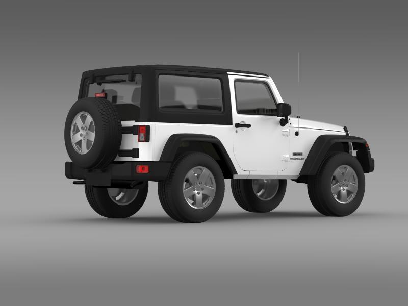 jeep wrangler uk sport 2008 3d model 3ds max fbx c4d lwo ma mb hrc xsi obj 160215