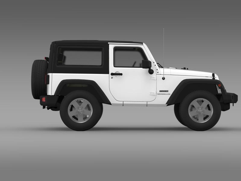 jeep wrangler uk sport 2008 3d model 3ds max fbx c4d lwo ma mb hrc xsi obj 160216