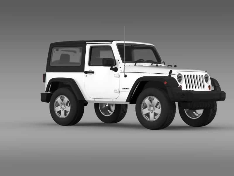 jeep wrangler uk sport 2008 3d model 3ds max fbx c4d lwo ma mb hrc xsi obj 160217