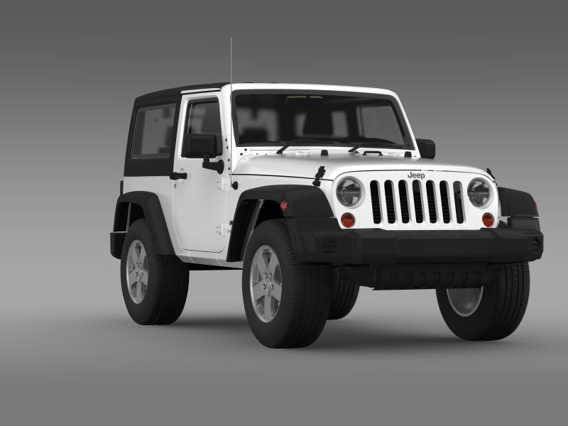 jeep wrangler uk sport 2008 3d model 3ds max fbx c4d lwo ma mb hrc xsi obj 160218