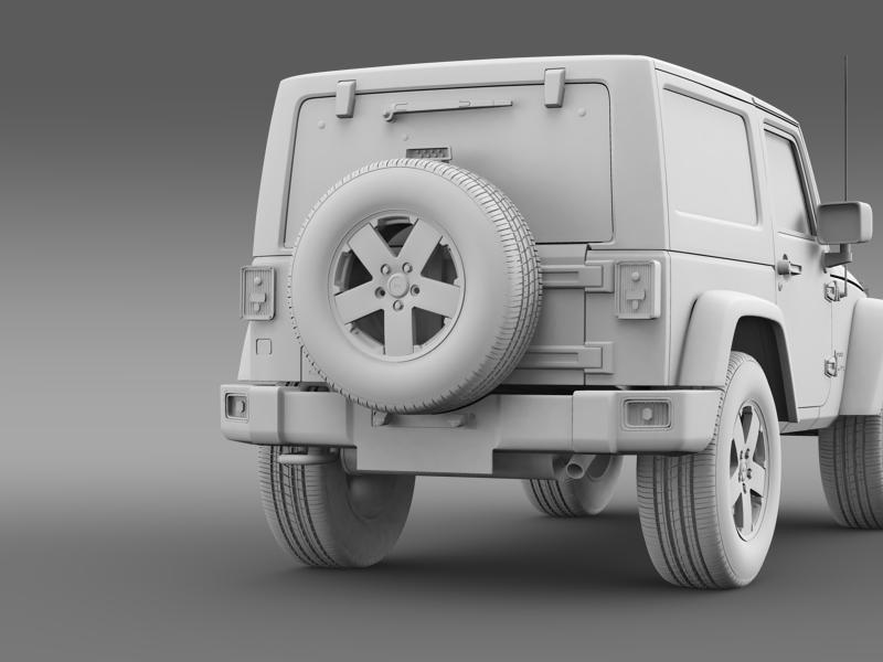 jeep wrangler uk sport 2008 3d model 3ds max fbx c4d lwo ma mb hrc xsi obj 160221