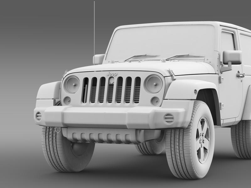 jeep wrangler uk sport 2008 3d model 3ds max fbx c4d lwo ma mb hrc xsi obj 160222