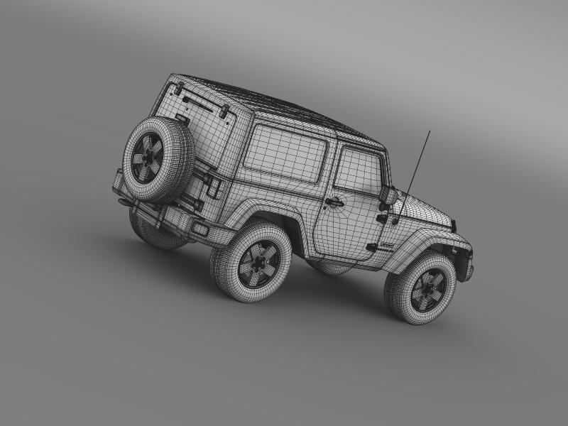 jeep wrangler uk sport 2008 3d model 3ds max fbx c4d lwo ma mb hrc xsi obj 160223